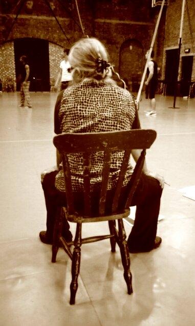 Director Kristine Landon-Smith watching rehearsals. Photo Credit: Anna Nguyen