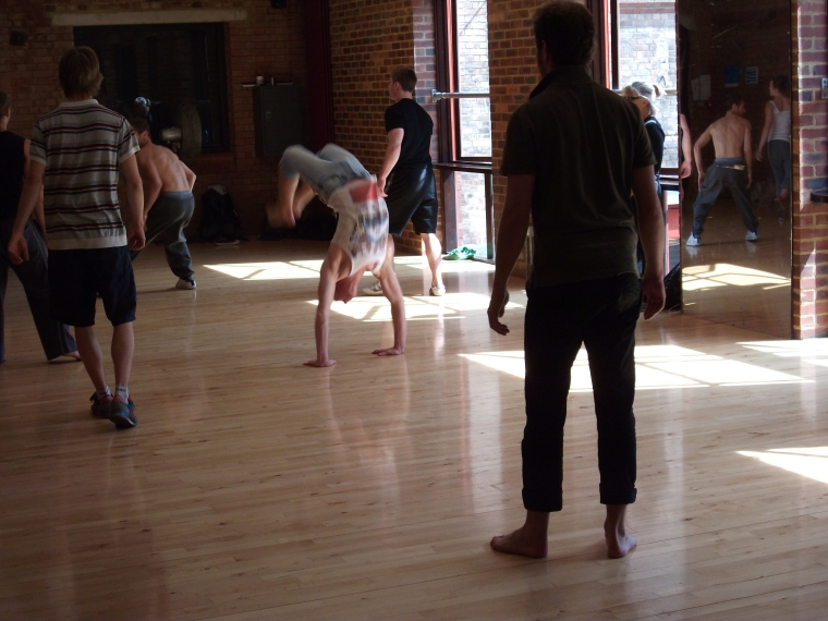 Arrival Rehearsals Week 2. Photo: Hebe Reilly