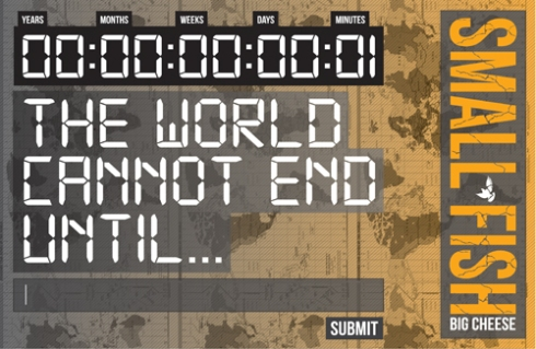 00:00:00:00:01 The World Cannont End Until... input text box