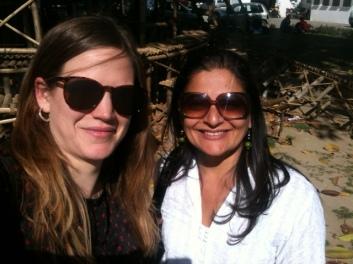 Outside the NSD, Tamasha's birthplace