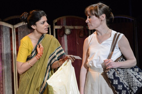 Ulrika Krishnamurti as Aditi and Gina Isaac as Eva in Made in India - Credit Robert Day